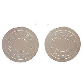 Hermes Silver Metal Earrings