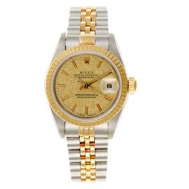Rolex Datejust Two Tone Champagne Linen Ladies Watch