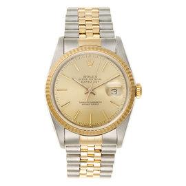 Rolex Datejust Two Tone 18K Yellow Gold Unisex Watch