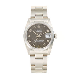 Rolex Oyster Perpetual Datejust Stainless Steel and Brown Jubilee Dial Watch