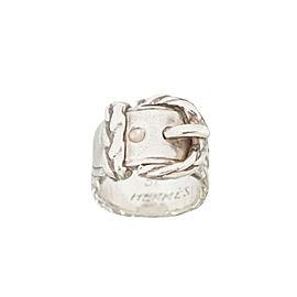 Hermes 925 Sterling Silver Belt Motif Ring