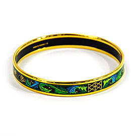 Hermes Metal And Cloisonne Bangle Bracelet