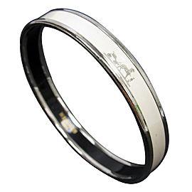 Hermes Metal White Bangle Bracelet