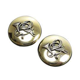 Hermes Gold Tone Metal Earrings