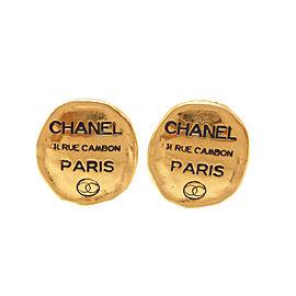 Chanel Metal Gold Earrings