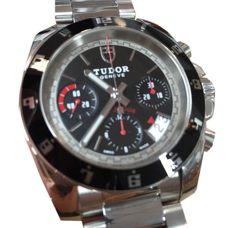 "Image of ""Tudor Grantour Chronograp 20350N Stainless Steel 41mm Watch"""