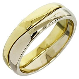 Cartier 18K White And Yellow Gold Love Ring Size 5.75