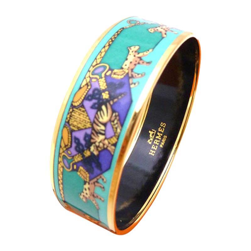 """Image of """"Hermes Metal Enamel Bracelet"""""""