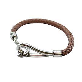 Chanel Metal Leather Bangle Bracelet