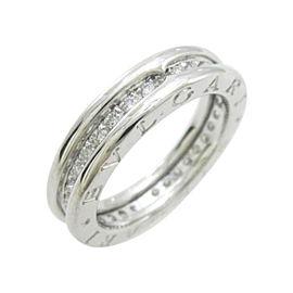 Bulgari 18K White Gold Zero1 1 Band Ring