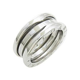 Bulgari 18K White Gold B Zero1 3 Band Ring