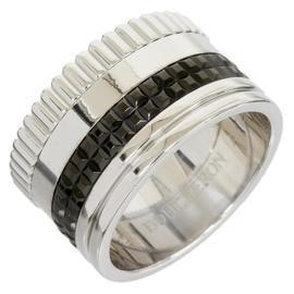 Boucheron 18K White Gold And Quatre Black PVD Ring
