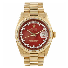 Rolex Day Date 18K Gold Presidential DImaond Dial Mens Watch