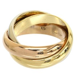 Cartier 18K Rose, Yellow & White Gold Trinity de Cartier Three Bands Ring US Size 4.75