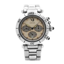 Cartier Pasha De Chronograph Stainless Steel Quartz Mens Watch