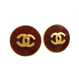 Chanel Gold Tone Metal and Artificial Pearl Clip Earrings