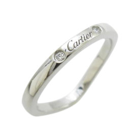 Cartier Platinium Ballerina 3P Diamond Band Ring Size 4.75