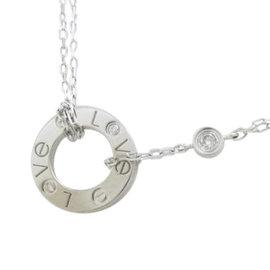 Cartier Love 18K White Gold Diamond Necklace