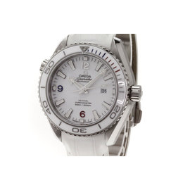Omega Seamaster 522.33.38.20.04.001 Stainless Steel & Leather White Dial Automatic 35mm Men's Watch