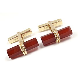 Tiffany & Co. 14K Yellow Gold Carnelian Cufflinks