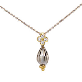 Charles Krypell 18K Yellow & White Gold Diamond Pendant Necklace
