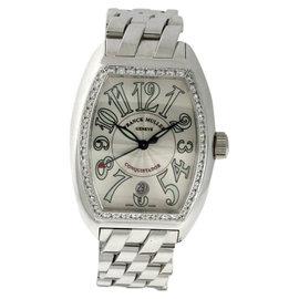 Franck Muller Conquistador Stainless Steel & Diamond 34mm x 48mm Watch