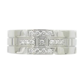 Cartier 18K White Gold with Diamond Ring Size 4.75