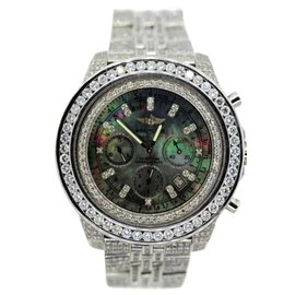 Breitling For Bentley Stainless Steel & 15ct Diamond Watch