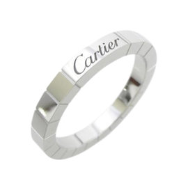 Cartier 18K White Gold Lanieres Ring Size 7.5