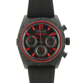 Tudor Fastrider Blackshield 42000CR Black Ceramic 42mm Mens Watch