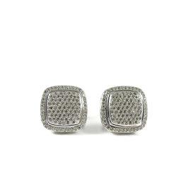 David Yurman Sterling Silver Pave 2.40ct. Diamond Albion Earrings