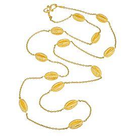 Yaakov Hillel Passiflora 24K Yellow Gold Bead Necklace