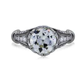 Platinum 2.91ct Diamond Engagement Ring Size 6.5