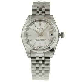 Rolex Datejust 178240 31mm Steel Silver Index Jubilee Watch