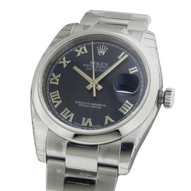 Rolex Datejust 116200 36mm Stainless Steel Blue Roman Dial Watch