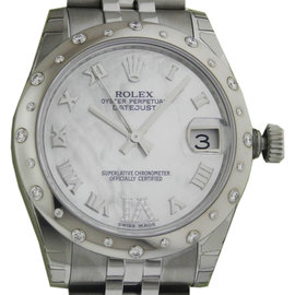 Rolex Datejust 178344 Mother of Pearl Diamond Bezel Jubilee Watch
