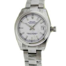 Rolex Datejust 178240 Steel White Index Oyster 31mm Watch