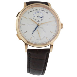 A. Lange & Sohne Saxonia Dual Time 1385.032 18K Rose Gold Watch