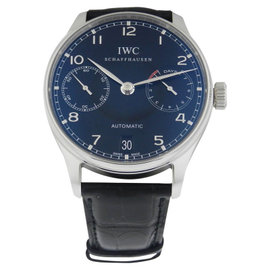 IWC Portuguese Automatic IW500109 Stainless Steel Black Dial Mens Watch