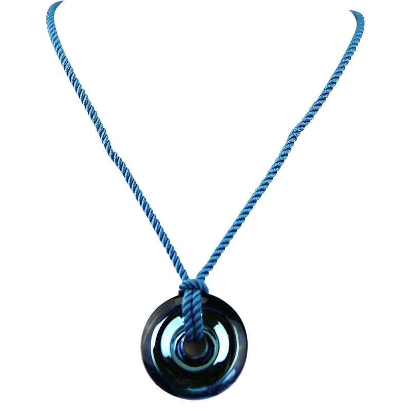 "Image of ""Baccarat B Spirit Small Blue Riviera Pendant"""
