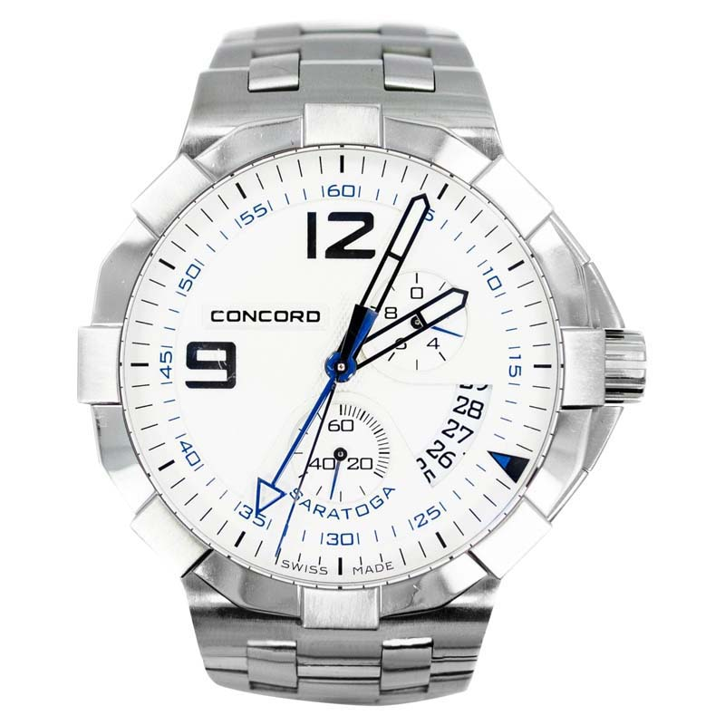 "Image of ""Concord Saratoga Date Stainless Steel Quartz Men's Watch"""