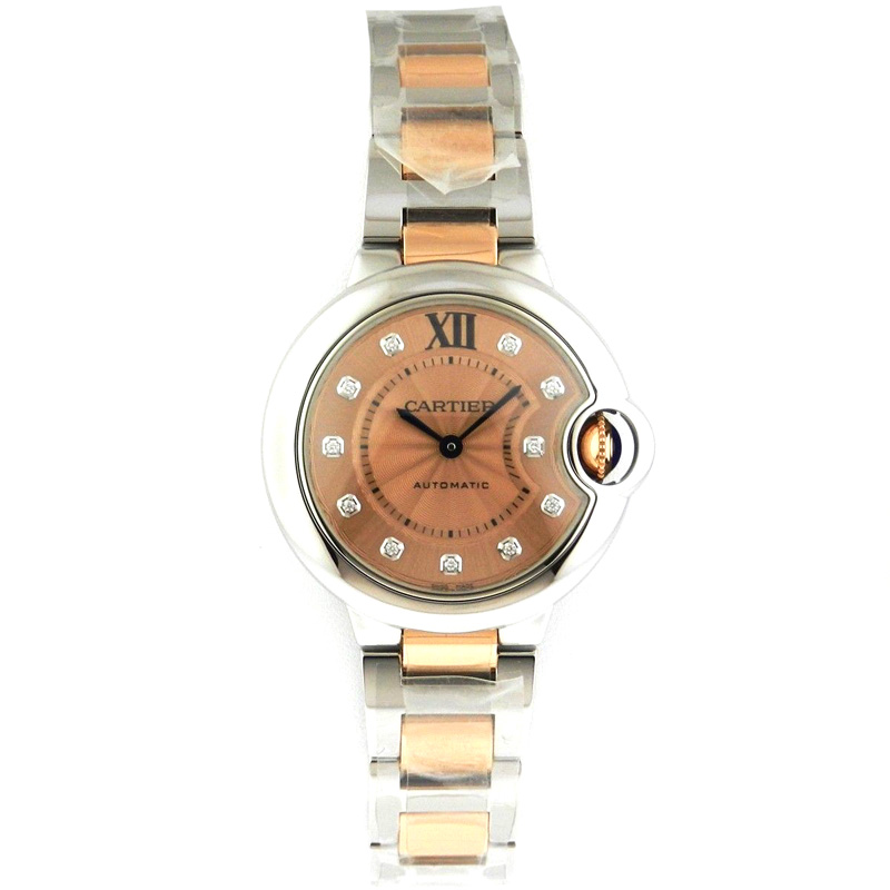 """Image of """"Cartier Ballon Bleu We902053 Stainless Steel and 18K Rose Gold Watch"""""""