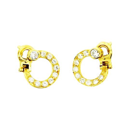 Cartier Paris 18K Yellow Gold & Diamond Earrings Circa 1960s