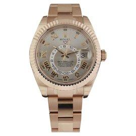 Rolex 326935 Sky Dweller Oyster Perpetual 18K Rose Gold Mens Watch