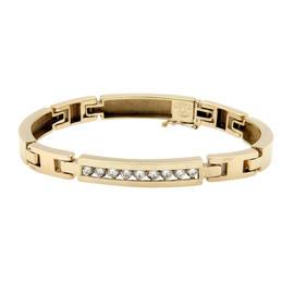 14K Yellow Gold & Diamond Link Bracelet