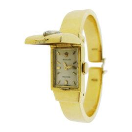 Rolex 48mm 18K Yellow Gold & Diamond Bangle Watch
