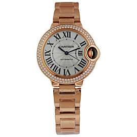 Cartier Ballon Bleu18K Rose Gold Diamond Case 33mm Watch
