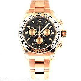 Rolex Daytona 116505 Cosmograph Everose Black Dial Mens Watch