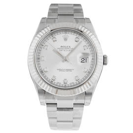 Rolex 116334 Datejust II Stainless Steel Silver Dial 41mm Mens Watch