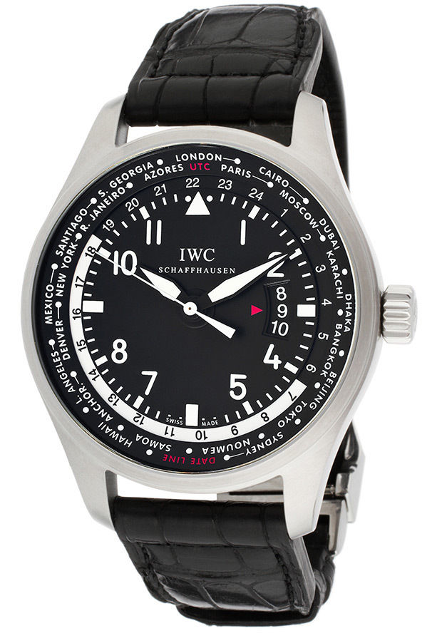 "Image of ""IWC Pilot Woldtimer 326201 Automatic Stainless Steel Watch"""